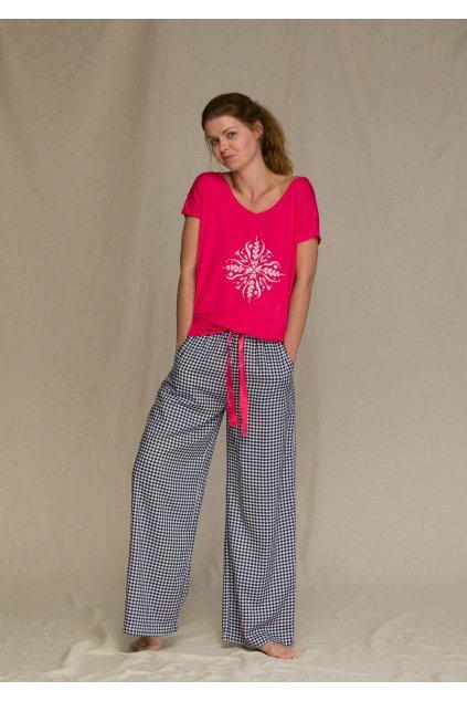 pizama damska z szerokimi spodniami lns 451 3 1