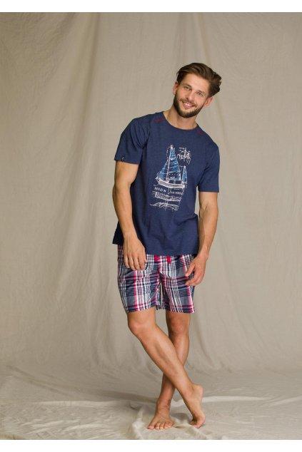Pánské bavlněné pyžamo MNS 710 KEY