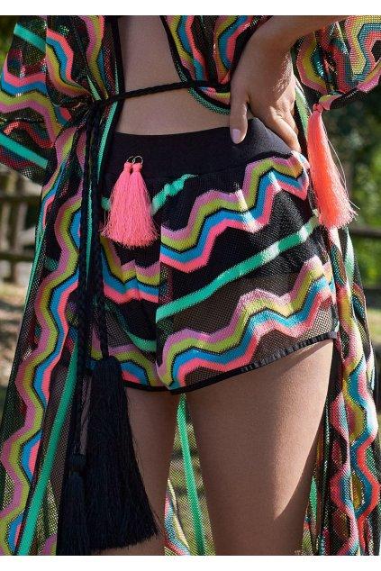 plazowe szorty w kolorowy wzor kenya shorts poupee marilyn 4