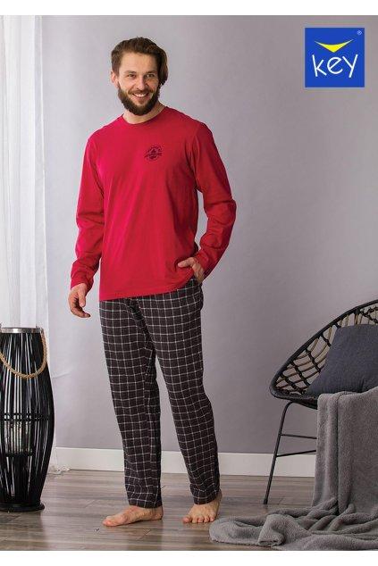 pizama meska z flanelowymi spodniami mns 432 1