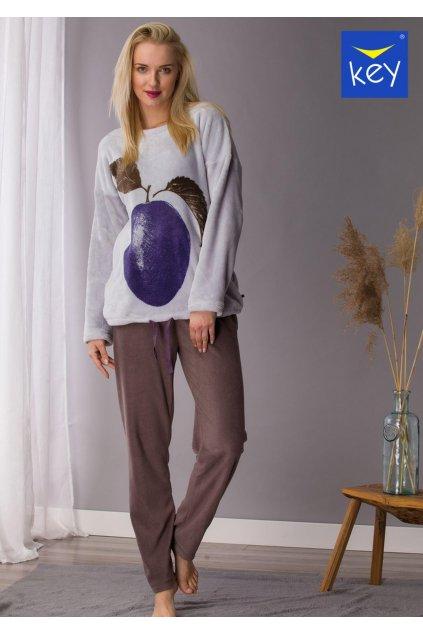 cieply dwukolorowy komplet damski homewear lhs 206 1