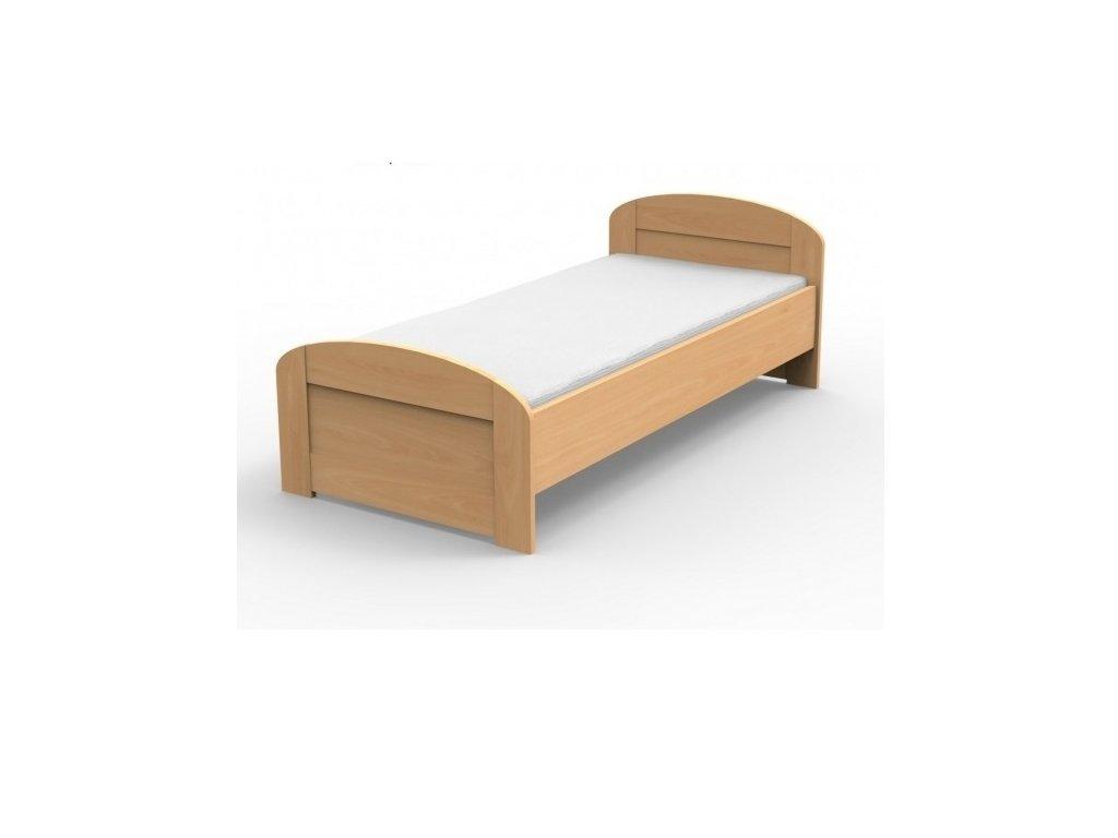 Masívna posteľ PETRA s oblým čelom pri nohách
