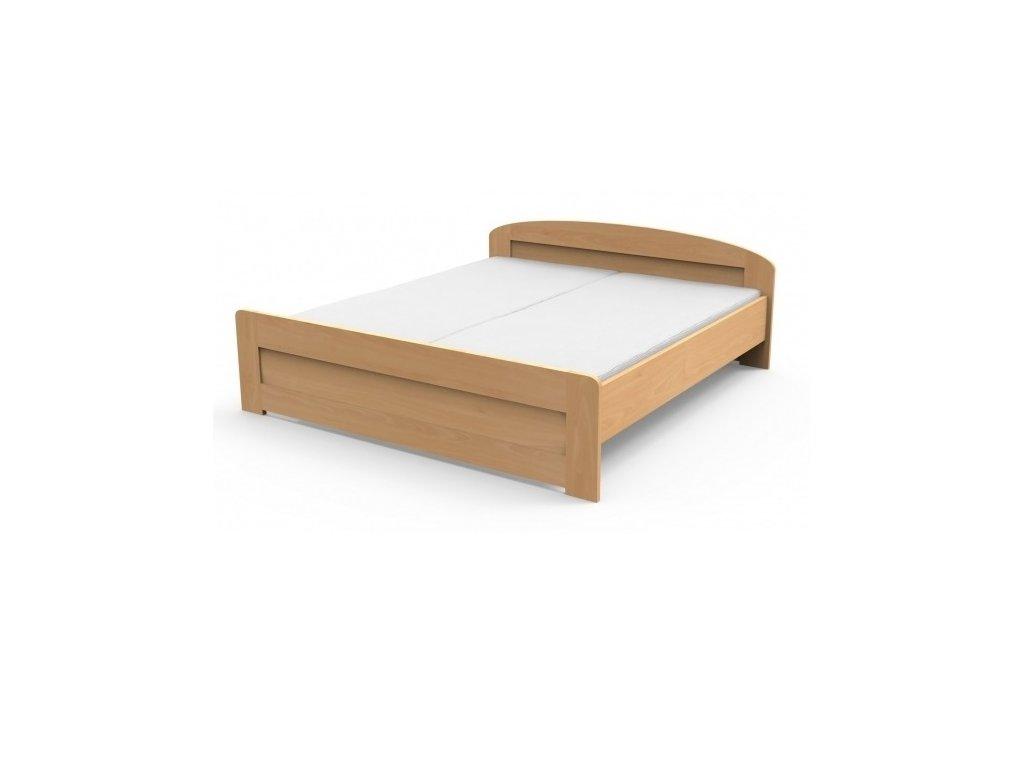 Masívna posteľ PETRA s rovným čelom pri nohách