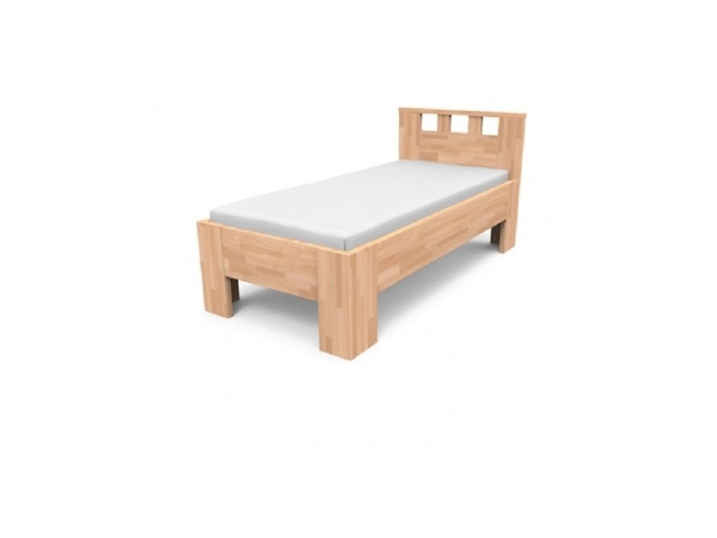 Jednolôžková posteľ z masívu LUCIA