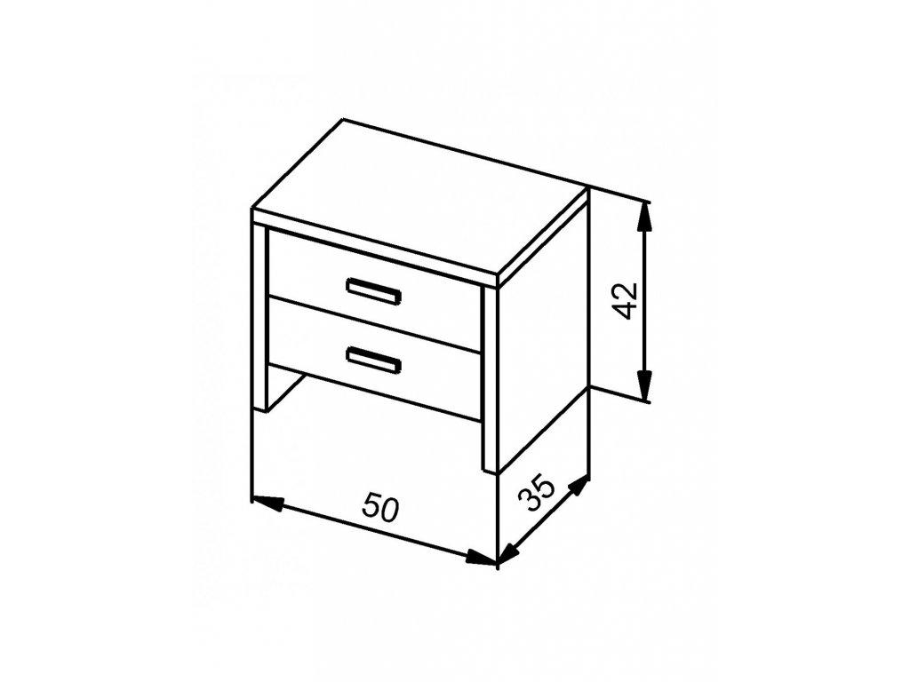 Nočný stolík MS 4   /výpredaj - orech/