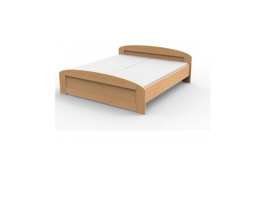 Manželská masívna posteľ PETRA s oblým čelom,