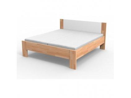 Kvalitná masívna posteľ  NIKOLETA - čalúnené čelo