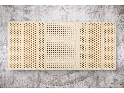 Kvalitný extra hard latexový matrac Megal Latex 7-zónový (70 kg/m3) (Rozmer 200x90, Typ matraca + ovčia vlna + bavlna (zimná + letná strana))