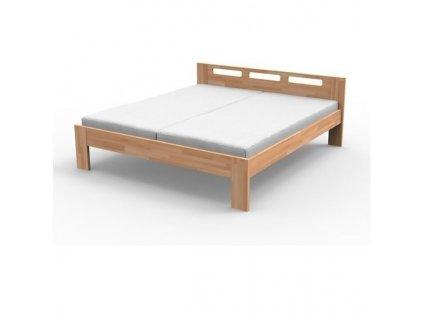 Manželská masívna posteľ NELA