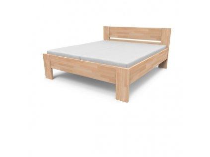 Manželská masívna posteľ NIKOLETA - plné čelo