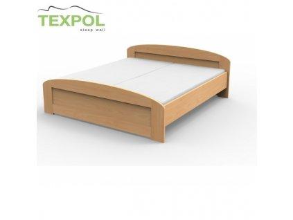 Manželská masívna posteľ PETRA s oblým čelom
