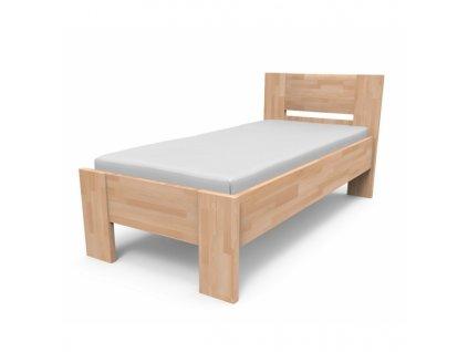 Kvalitná posteľ z masívu NIKOLETA s plným čelom