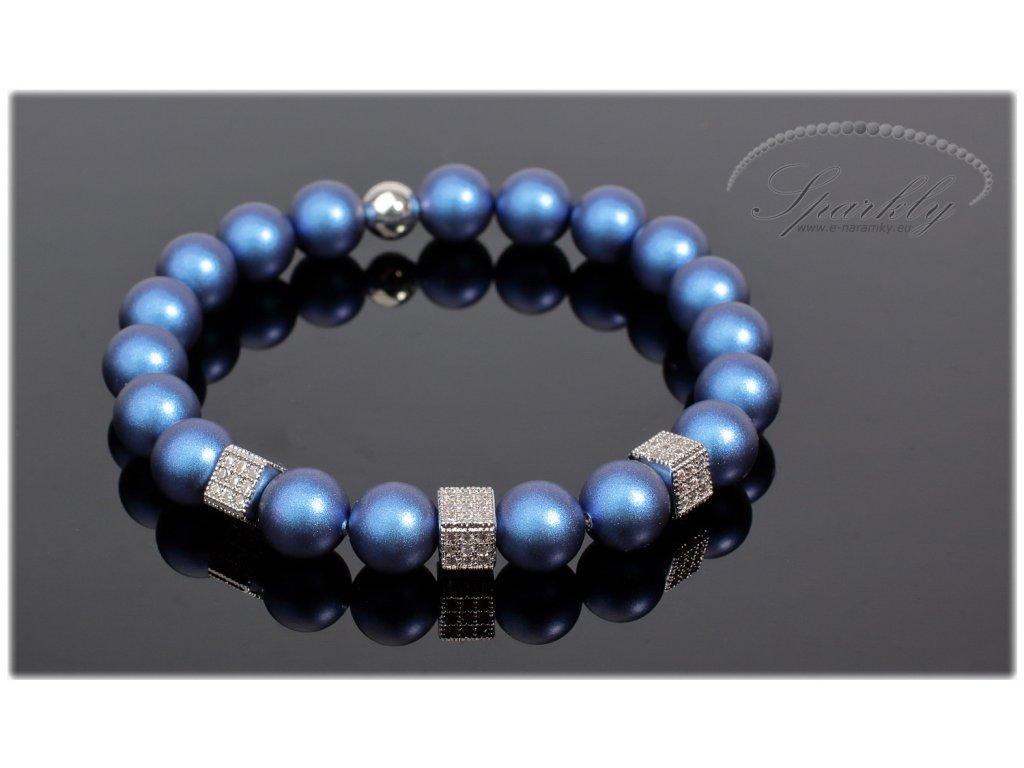 Náramek Pearl z modrých perel Swarovski