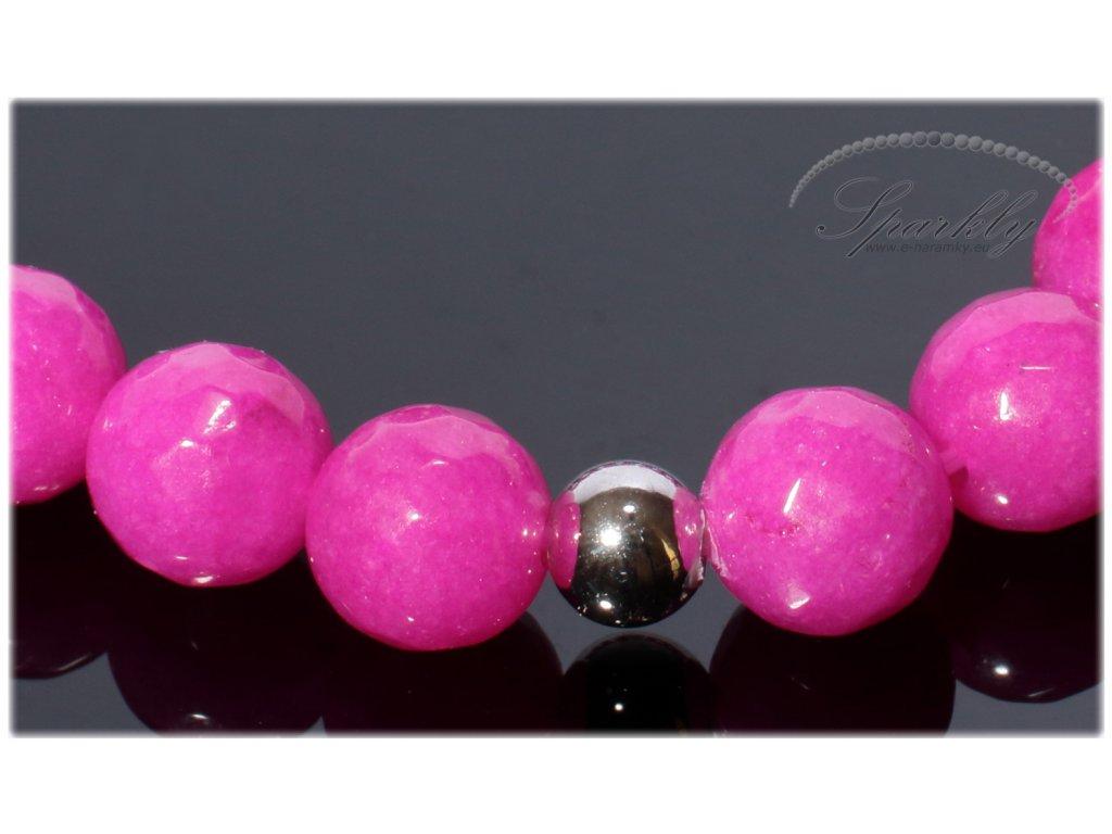 Náramek z růžového jadeitu