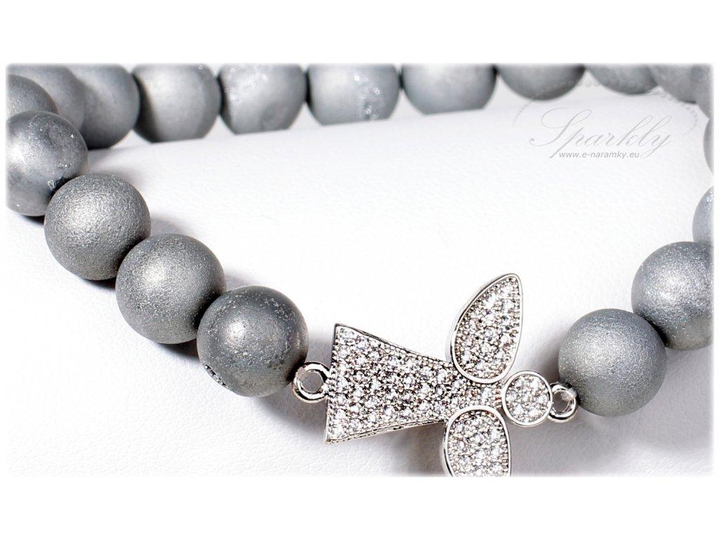 Elegantní náramek Gray Angel