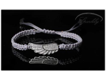 Luxusní macramé náramek Andělské křídlo