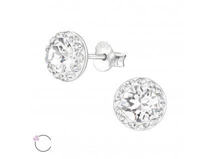 Bílé náušnice s krystaly Swarovski® Elements