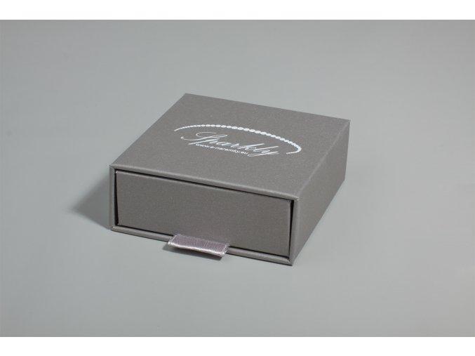 Šedá dárková krabička Luxury s metalickým povrchem
