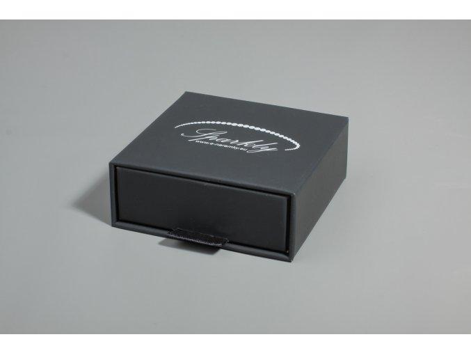Černá dárková krabička Luxury v matném provedení