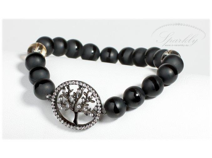 Elegantní náramek Black Tree of Life