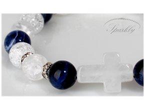 Ručně vyrobený náramek Crystal Cross