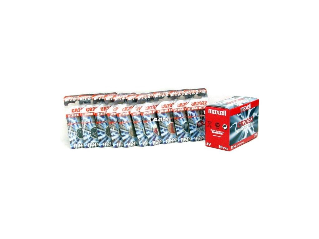 2032 CR Baterie balení 10ks Maxell Japan CR2032