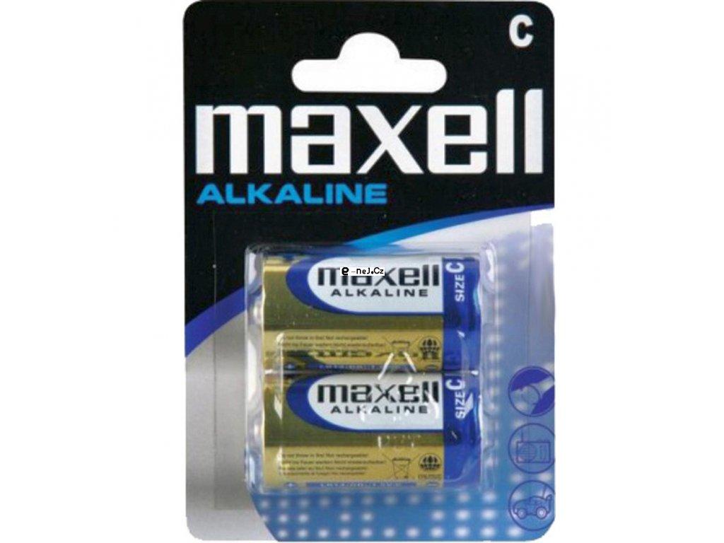 Alkalické baterie C malé monočlánky maxell 2ks