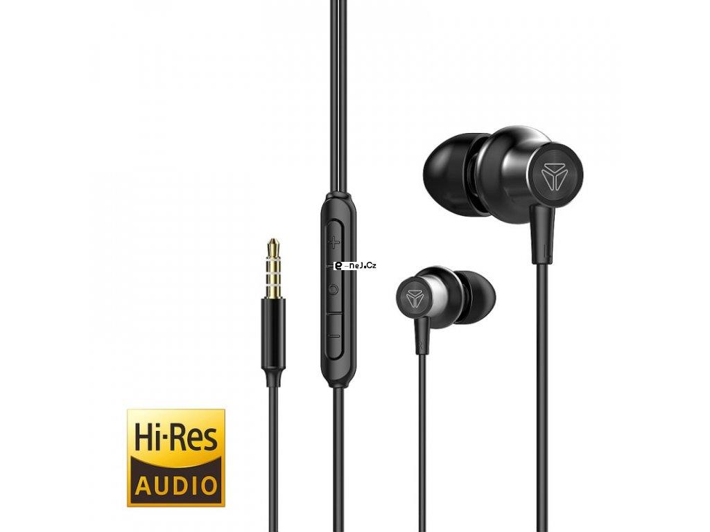 Hi Res audio sluchátka do uší s mikrofonem