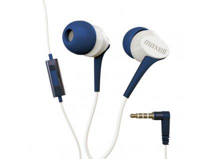 Fusion+ Maxell Blue Sluchátky s mikrofonem a tlačítkem