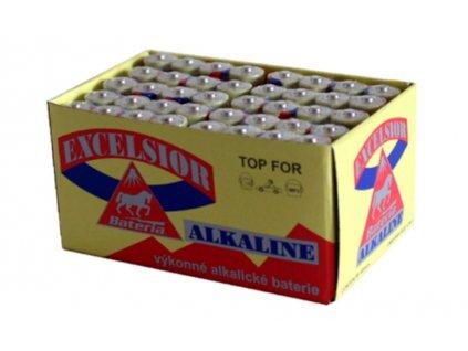 Alkalické baterie v akci AA tužkové Alkalické baterie AA Excelsior 40ks v krabičce