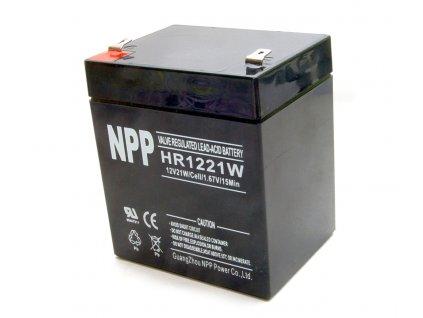 HR1221W NPP olověný akumulátor 12V 5Ah zátěžový 12V 21W VRLAB