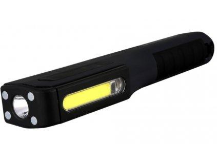 Pracovní svítilna do ruky 3W COB + 1W LED