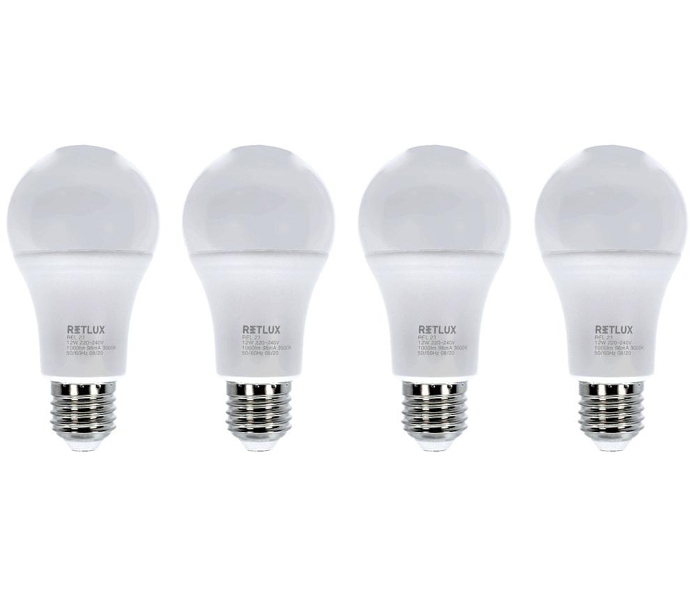 LED žárovky E27 12W sada 4ks