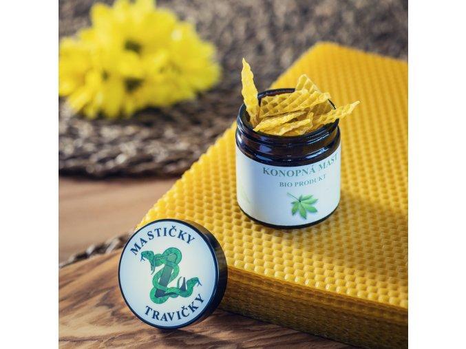 Konopná mast včelí vosk 60 ml