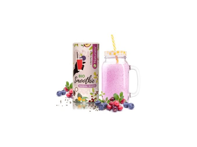 smoothie naturalis boruvka a brusinka bio 180g
