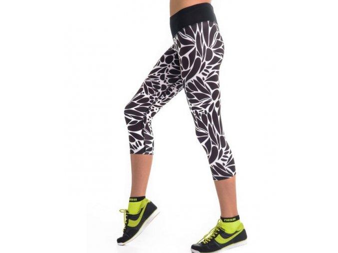 Nessi krátké běžecké/fitness legíny OSTK 31 černé listy