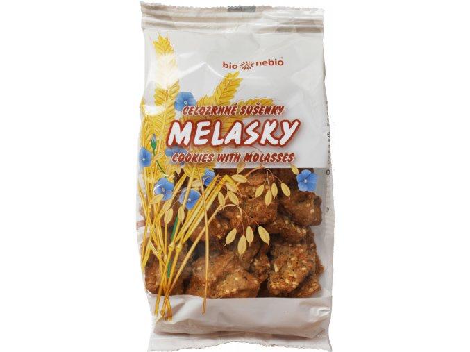 MELASKY - celozrnné sušenky s melasou 145 g  melasky, celozrnné sušenky s melasou