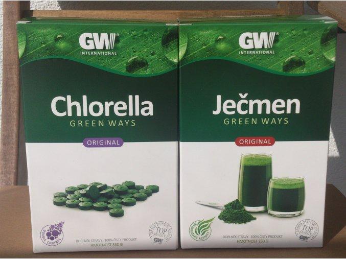 Green Ways Mladý ječmen + Chlorella VÝHODNÉ BALENÍ