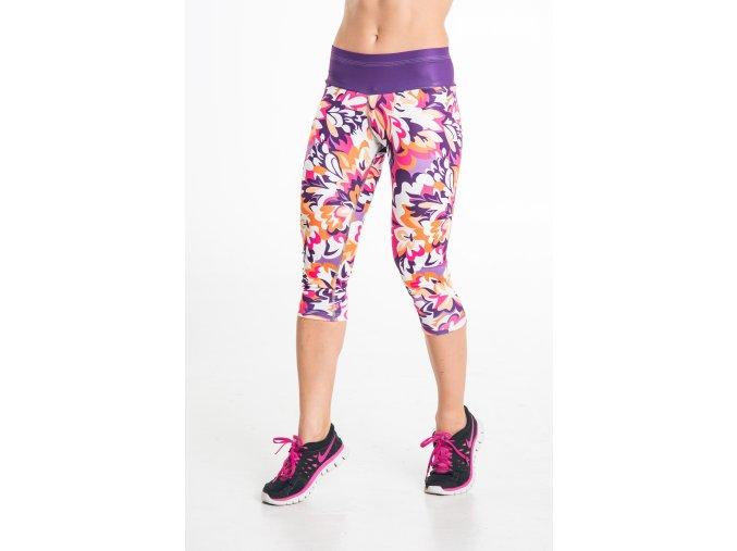 Nessi krátké běžecké/fitness legíny 23 růžové
