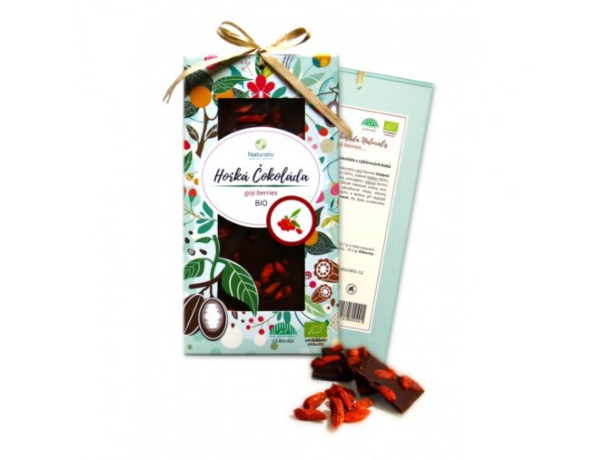 bio cokolada naturalis s goji berries 80g