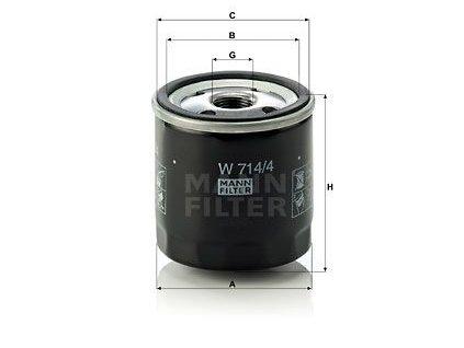 MANN-FILTER W714/4 1 ks