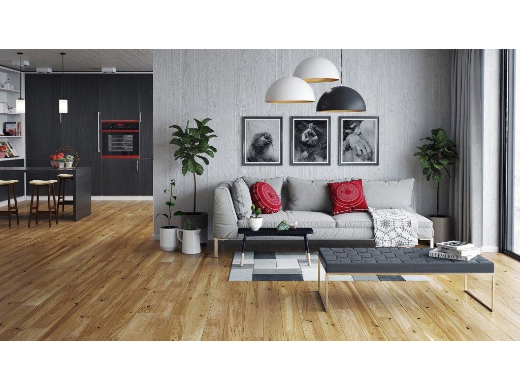 Dřevěná podlaha - Dub Conchi Piccolo (Barlinek) třívrstvá