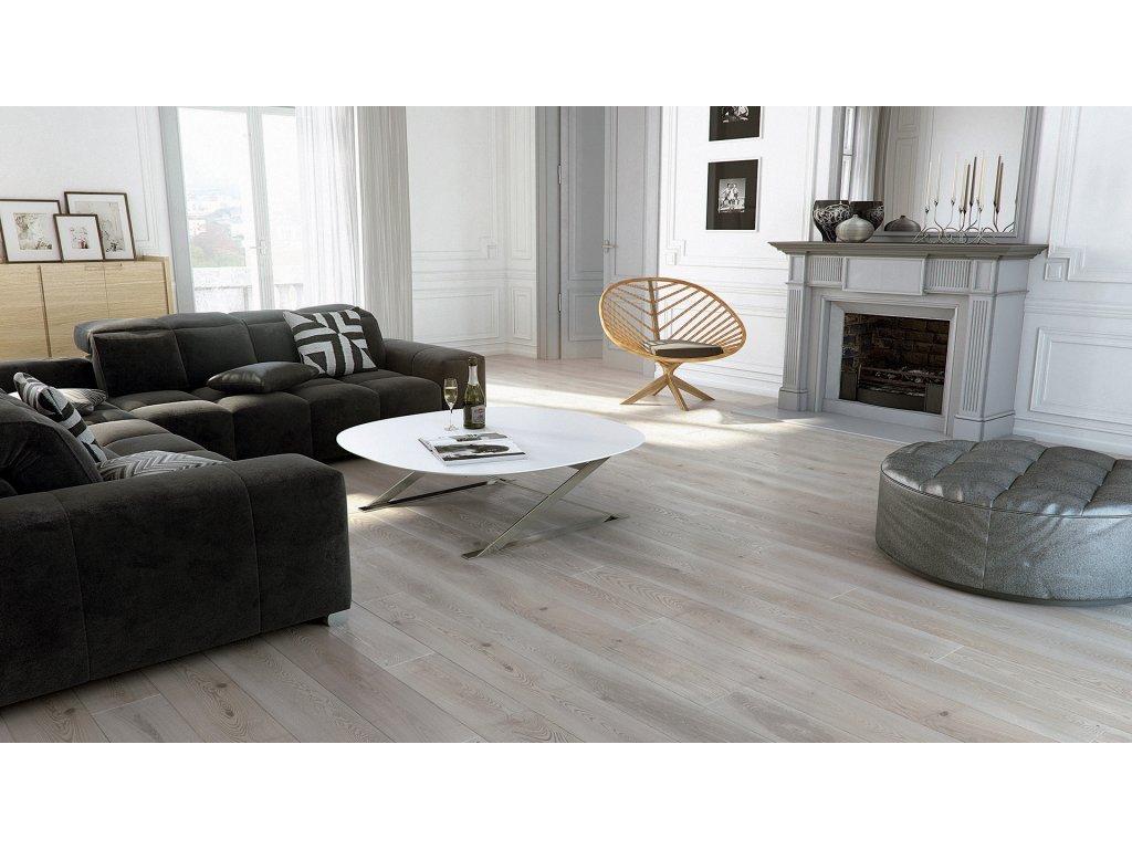 Dřevěná podlaha - Jasan Platinium Grande (Barlinek) - třívrstvá