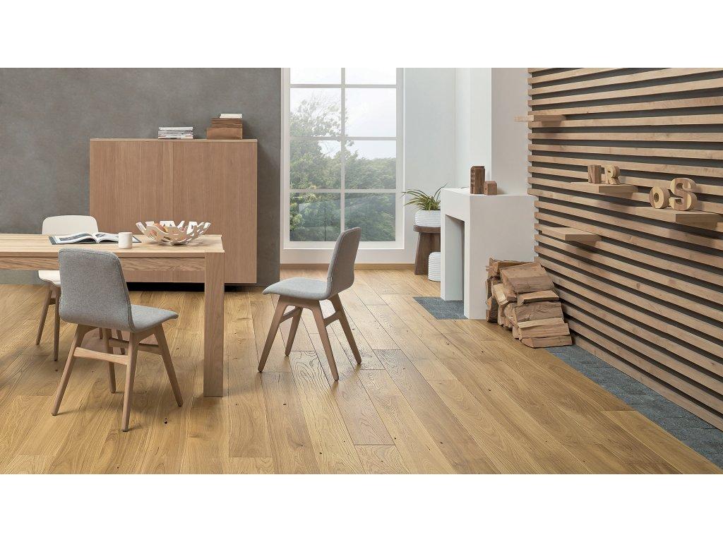 Dřevěná podlaha - Dub Caramel Grande (Barlinek) - třívrstvá