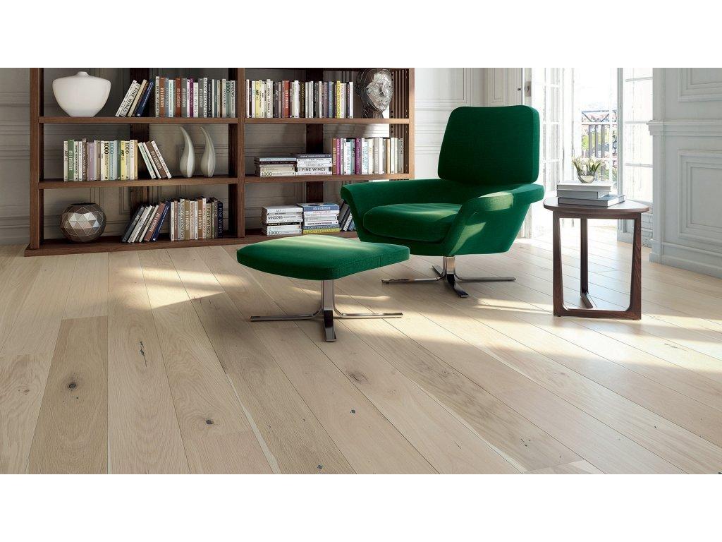 Dřevěná podlaha - Dub Creme Brulee Grande (Barlinek) - třívrstvá