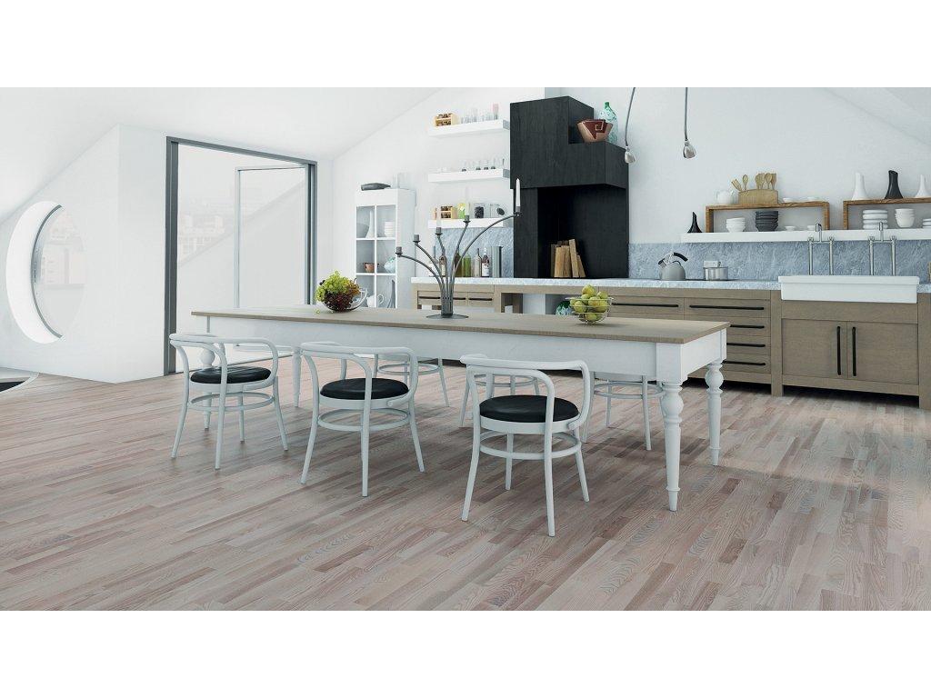 Dřevěná podlaha - Jasan Platinium Molti (Barlinek) - třívrstvá