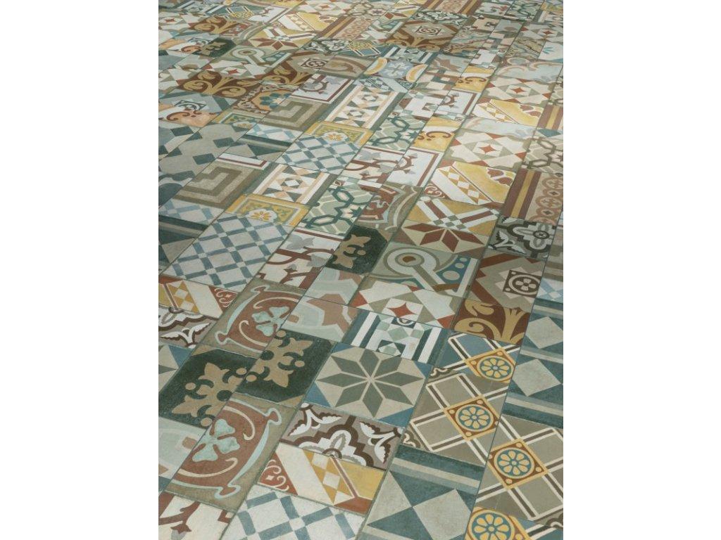 Plovoucí vinylová podlaha - Ornamentic colour, struktura minerální, 4-V-drážka (1602122) (Parador)