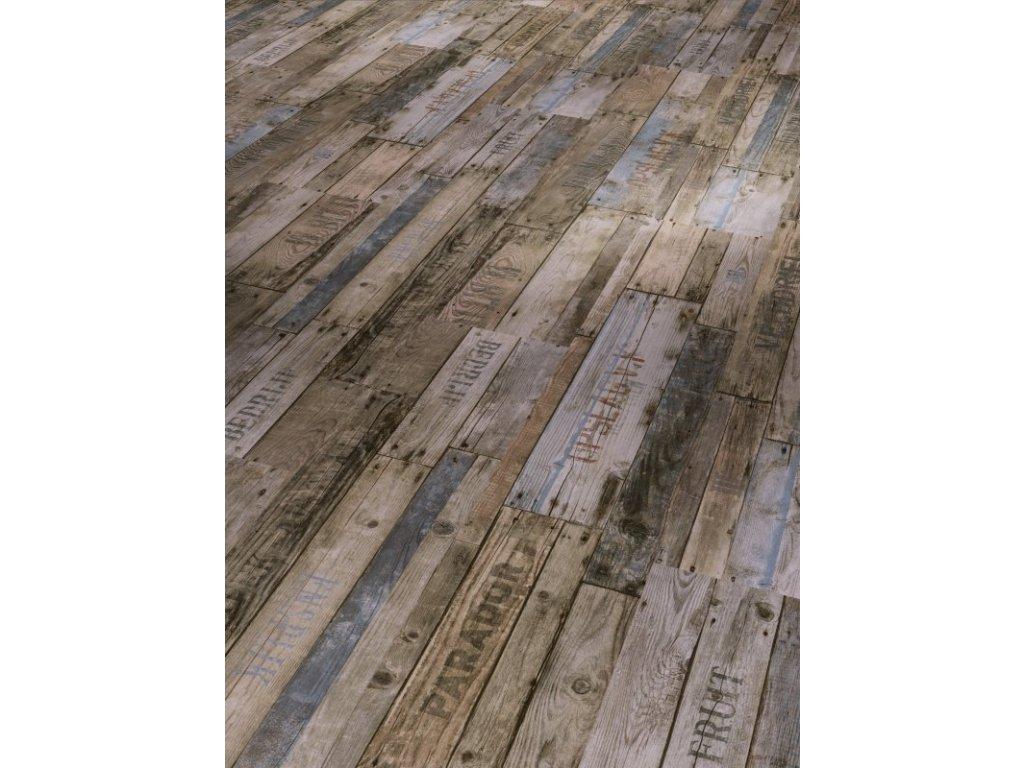 Plovoucí vinylová podlaha - Boxwood vintage hnědá, kartáčovaná struktura 1513567 (Parador)