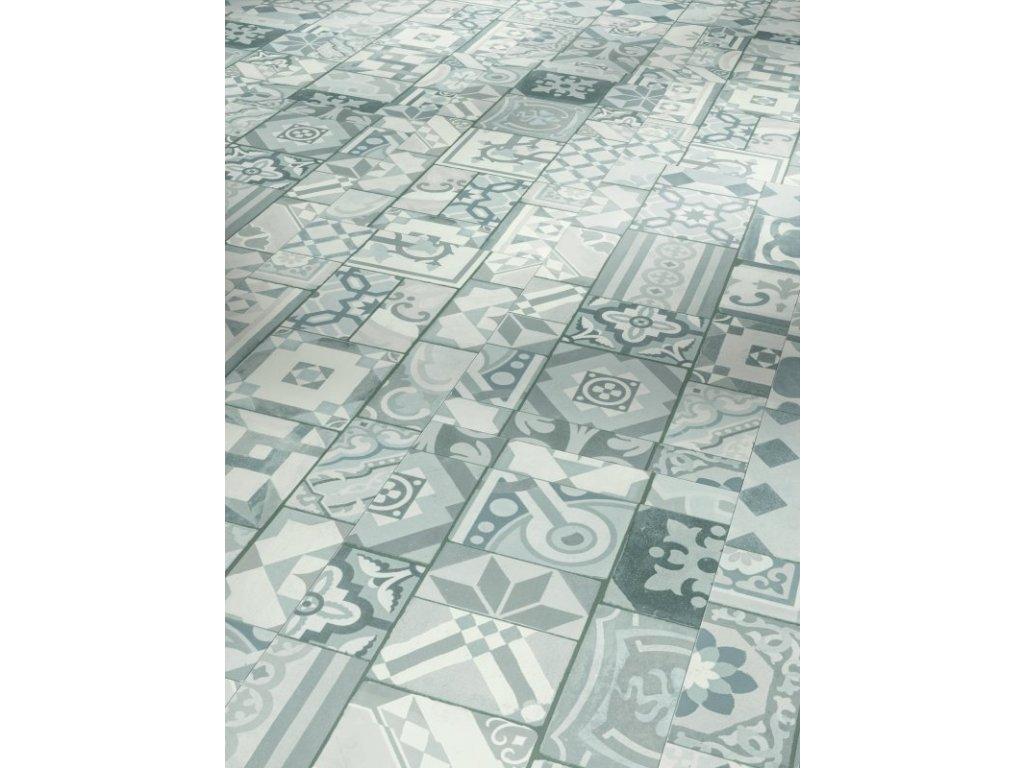 Plovoucí vinylová podlaha - Ornamentic grey, struktura minerální, 4-V-drážka 1602133 (Parador)