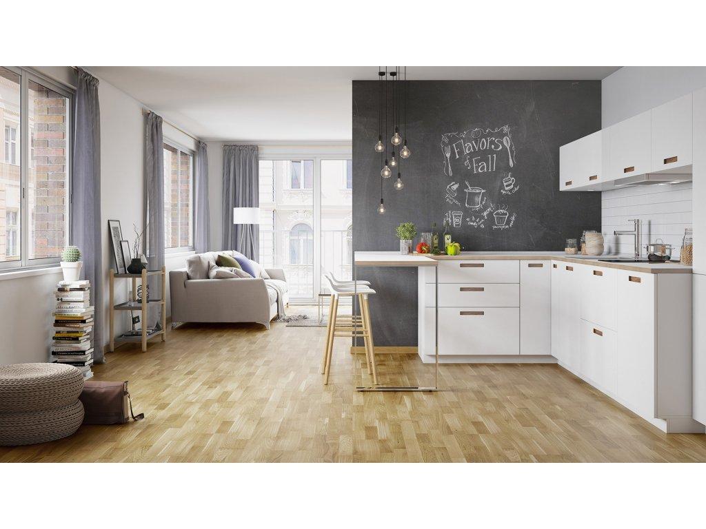 Dřevěná podlaha - Dub Askania Molti (Barlinek) - třívrstvá